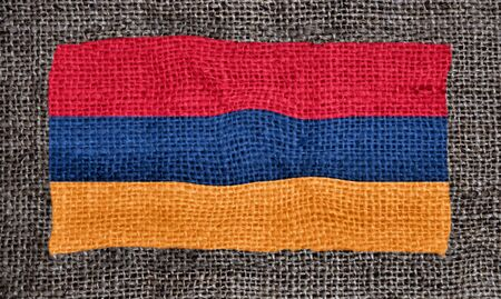 armenian: Armenian flag printed ot fabric