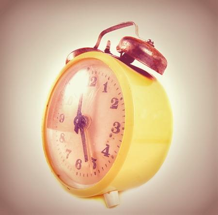 age 5: Vintage alarm clock closeup
