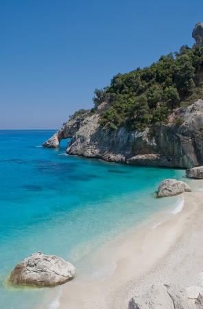 limpid: Goloritzè cove in Sardinia, Italy Stock Photo