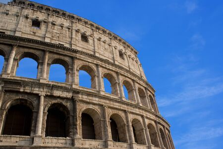 The Colosseum, historical  amphitheatre in the centre of the city of Rome, Italy