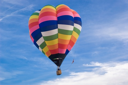 A hot air balloon flight photo