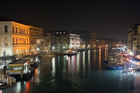 View of Grand Canal in the night in Venice, Italy Stock Photo - 13511945