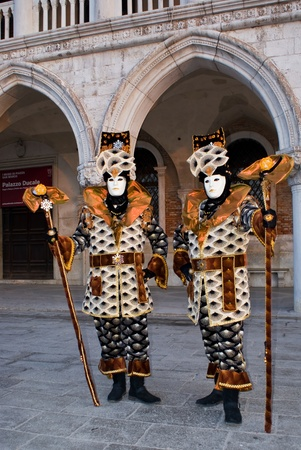 A pair of masks in Venice, Italy Stock Photo - 13512735