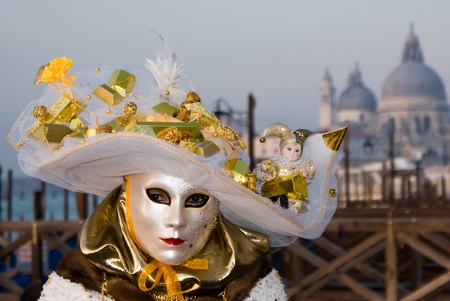 Close up of a mask witha a hat in Venice, Italy Stock Photo - 13511951