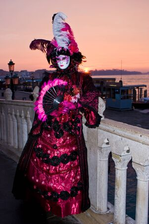 Carnival mask a at dawn in Venice, Italy Stock Photo - 13512720