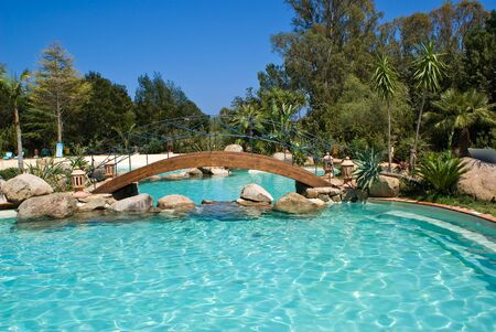 View of a beautiful swimming pool in Italy Stock Photo - 13559012