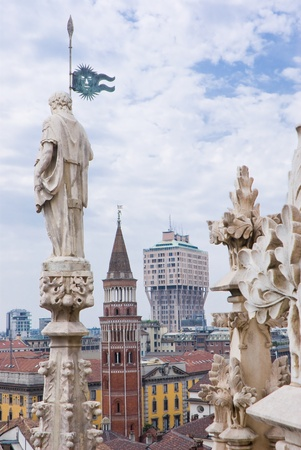 View of Milan from the Cathedral, Italy, Europe Stock Photo - 13817137