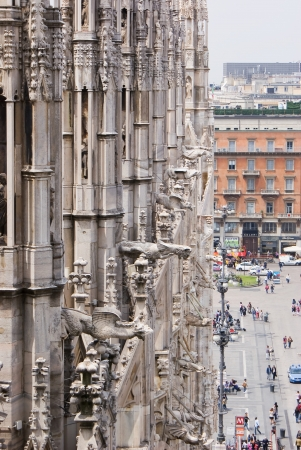 gargouilles: Un point de vue des gargouilles de la cath�drale de Milan en Italie, en Europe