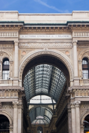 Vittorio Emanuele II Gallery in Milan, Italy, Europe photo