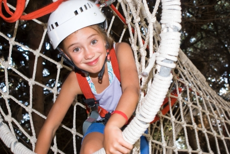 Child in an adventure park photo