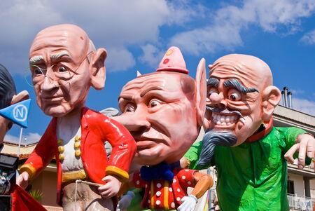 baile caricatura: Desfile de carrozas de Carnaval Editorial