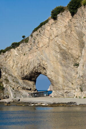 palinuro: A natural arch of rock in Palinuro, Italy Stock Photo