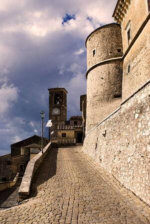 Medieval castle in italian village