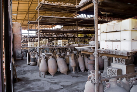 finds: Finds in the archeological excavations of Pompeii, Italy Stock Photo