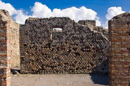 Las excavaciones arqueológicas de Pompeya, Italia