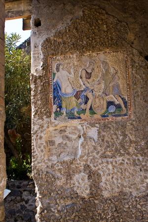 anforas: La casa de Apolo en las excavaciones arqueológicas de Pompeya, Italia