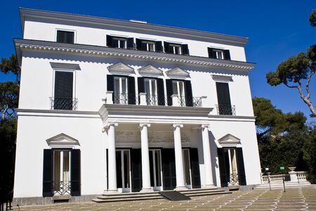 neoclassical: Facade of a neoclassical villa in Naples, Italy