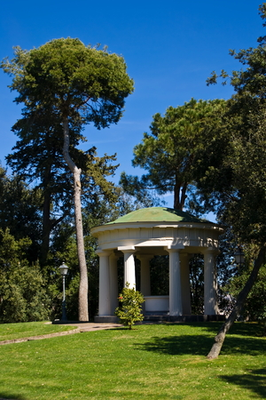 neoclassical: Neoclassical temple in a public park, Naples