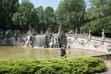 risorgimento: Fountain of the Twelve Months in Turin, Italy Stock Photo