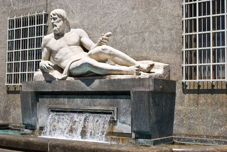 risorgimento: The fountain of Po river in Turin, Italy Stock Photo