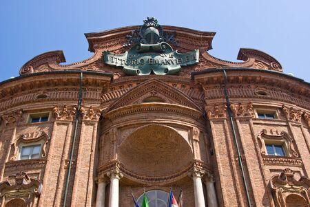 risorgimento: Facade of Carignano Palace in Turin, Italy