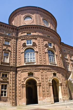 middle ages boat: Facade of Carignano Palace in Turin, Italy