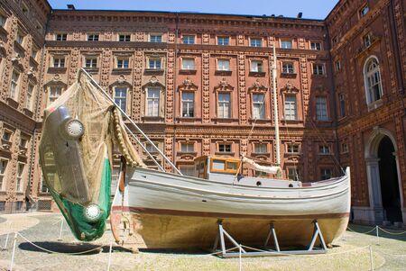risorgimento: Courtyard of Carignano Palace in Turin, Italy Editorial