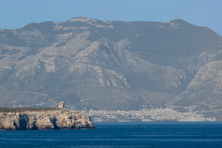 bluff: Seascape with bluff, Sicily in Italy Stock Photo