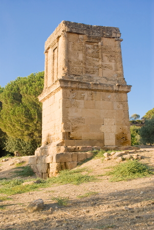 telamon: Tomb of Teron in the Valley of the Temples, Agrigento in Italy