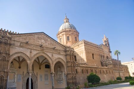 egadi: Facade of Cathedral of Palermo, Sicily in Italy