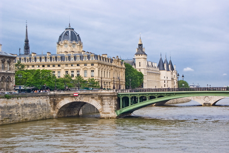 ile de la cite: View of Ile de la Cite, Paris Stock Photo