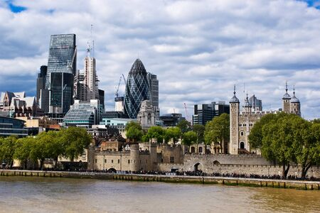 royal: View of the City behind the Tower of London