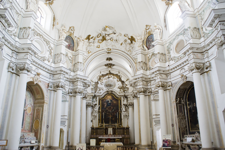 Sicilian Baroque church in Noto, Italy Editoriali