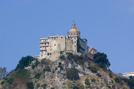 View of the Sanctuary of Tindari, Sicily in Italy