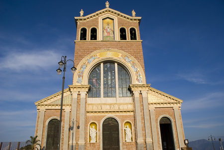 Facade of Sanctuary of Tindari, Sicily in Italy
