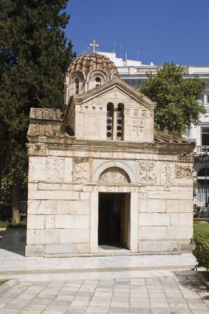 A little orthodox church near the Cathedral of Athens