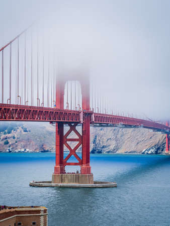 San Francisco - USA, Golden Gate Bridge in San Francisco bay, California, USA. An icon of San Francisco, one of significant tourist attractions in the city