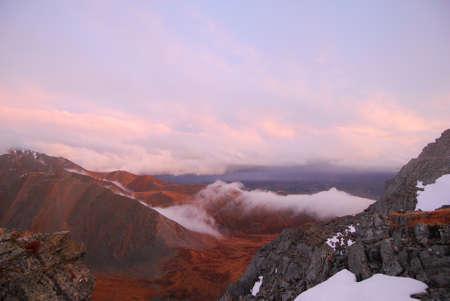 to altai: Altai mountains, sunset