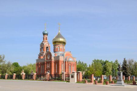 Russian church of Rostov district in Russia Stock Photo