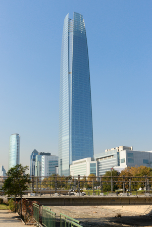 Skyscraper in bright sunny evening
