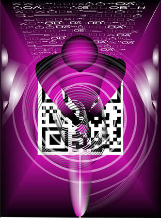 abstract image of the influence of digital age Stock Vector - 13821162