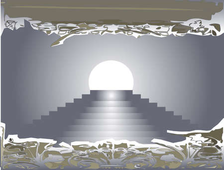 eventide: steps to the moon entering a dark pattern Illustration