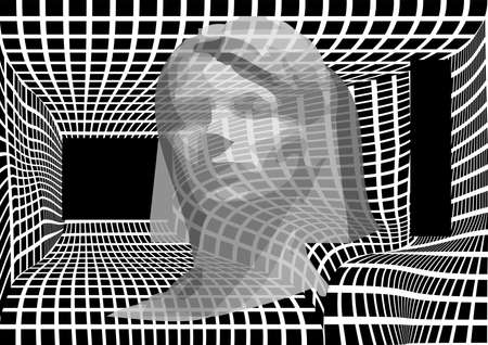 portrait of a woman on an abstract background Illustration