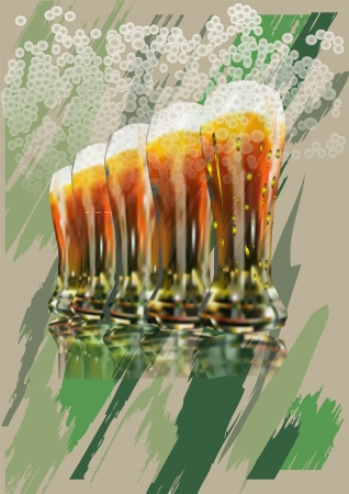 glass of beer on the background of military-style Stock Vector - 14384693