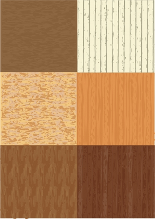 wood textures: six different wood textures  Illustration