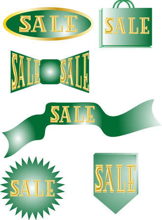 set of labels sale isolated on white background Stock Vector - 14540999