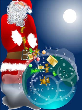 plenty: Christmas horn of Plenty with Santa Claus