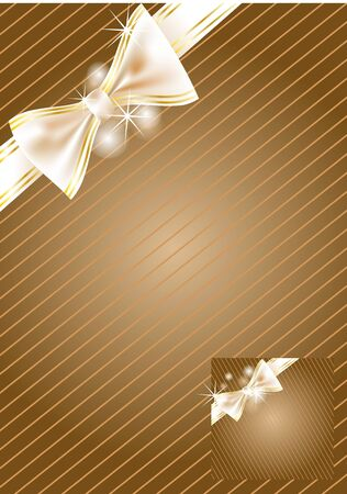 festive background with bow in gold and brown Stock Vector - 15026569