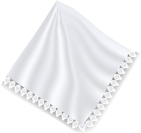 white napkin: white napkin isolated on the wite background