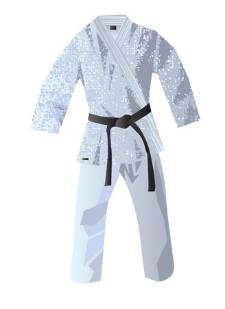 kimono for judo isolated on white background
